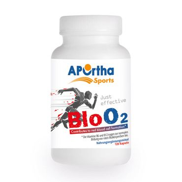 [ABVERKAUF] APOrtha Sports BloO2 - Red Blood Cell Enhancer* - 120 Kapseln - MHD 04/19