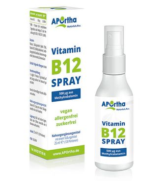 Vitamin B12 veganes Mundspray 500 µg Methylcobalamin - 25 ml - NEUE VERSION