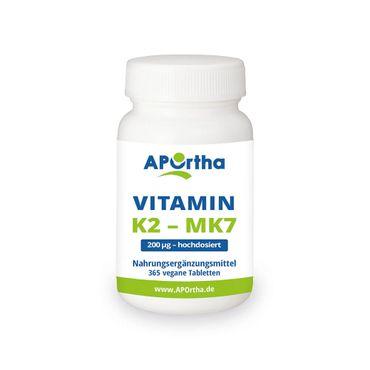 (ABVERKAUF) Natto Vitamin K2 - MK7 200 mcg - 365 vegane Tabletten - MHD 08/2019