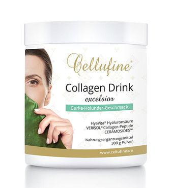 Cellufine® Premium Collagen-Drink EXCELSIOR Gurke-Holunder - 300 g
