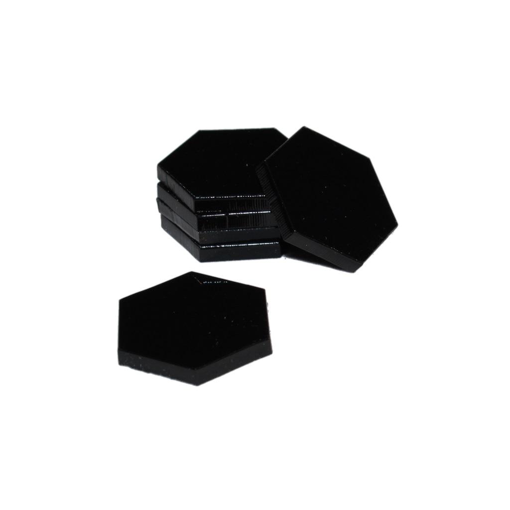 160mm BLACK ACRYLIC BASES for Roleplay Miniatures HEXAGONAL HEXAGON