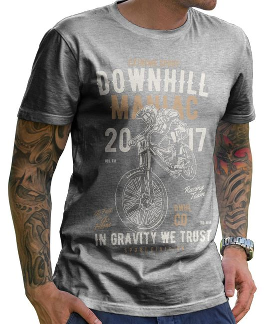 Stylotex Herren T-Shirt Basic Downhill Maniac