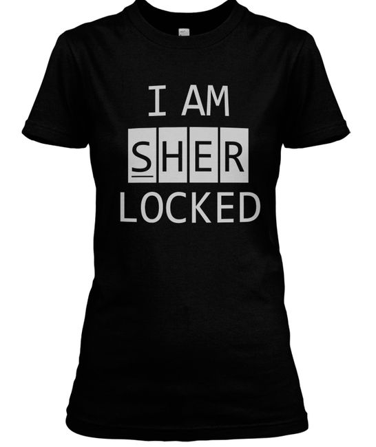 Stylotex Damen / Girlie T-Shirt I am sherlocked