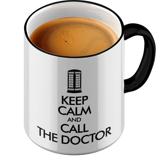 Funtasstic Tasse Keep Calm and call the Doctor - Kaffeepott Kaffeebecher by StyloTex