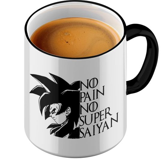 Funtasstic Tasse No Pain No Super Saiyan - Kaffeepott Kaffeebecher by StyloTex