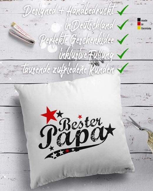 Dekokissen Bester Papa (vintagestyle)