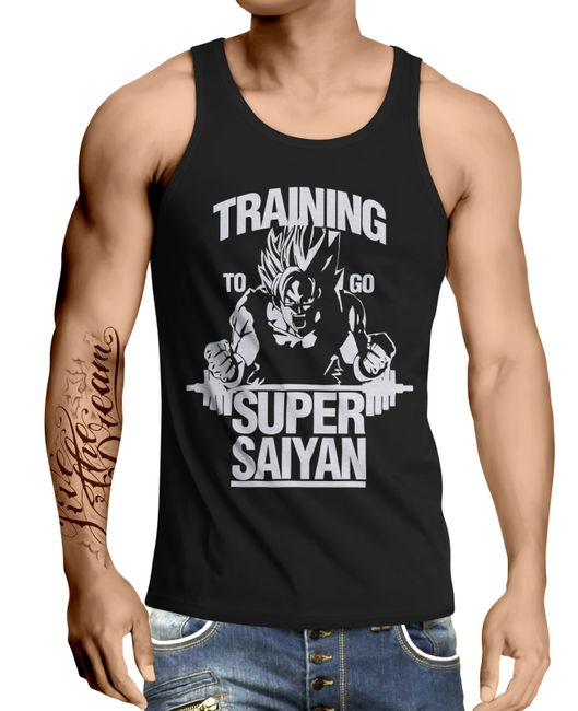 Stylotex Herren Tank Top basic Training to be Super Saiyan
