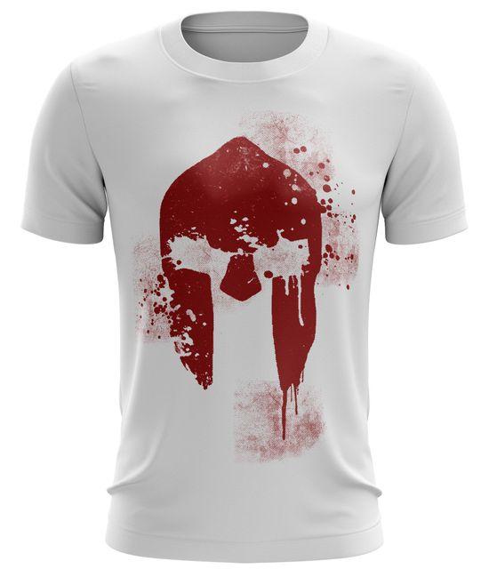 Fitness T-Shirt Herren Spartan Helmet