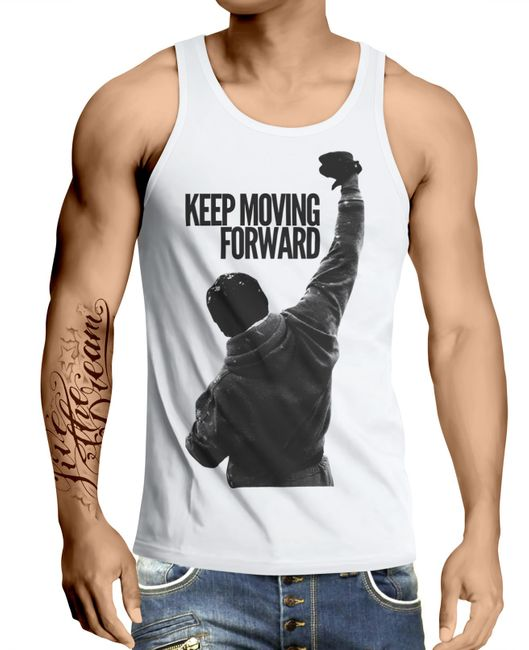 Stylotex Herren Tank Top basic Keep Moving Forward
