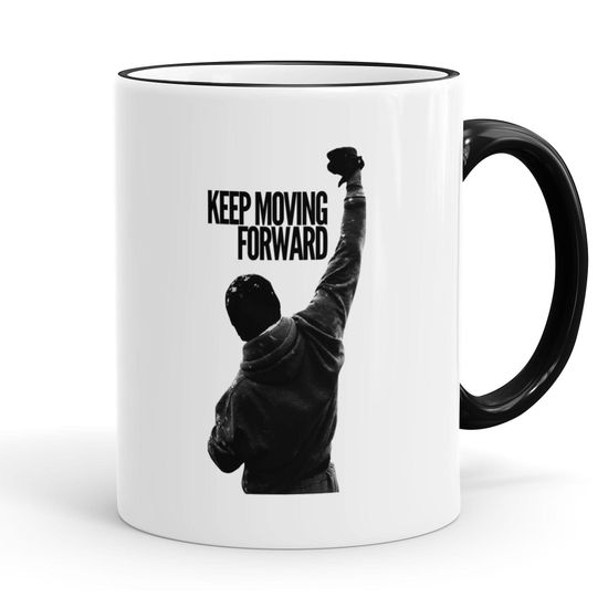 Funtasstic Tasse Keep Moving Forward - Kaffeepott Kaffeebecher 300 ml