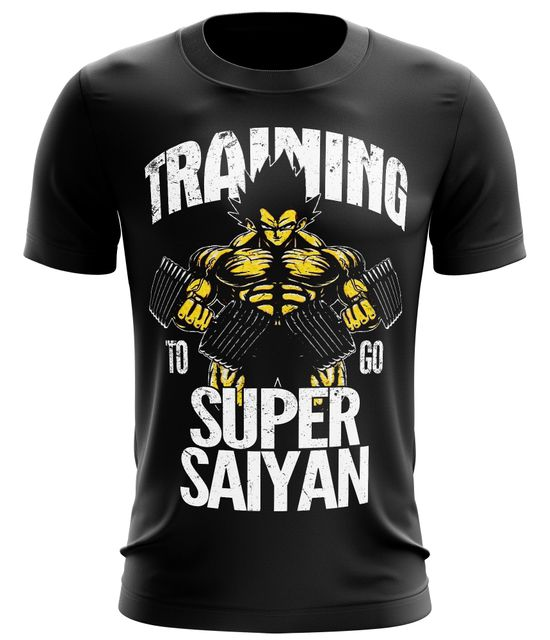 Stylotex Fitness T-Shirt Training to go Super Saiyan vintage