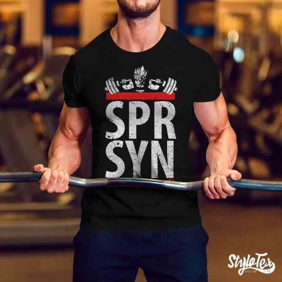 Stylotex Fitness T-Shirt Herren Sport Shirt SPR SYN Gym Tshirts für Performance beim Training | Männer kurzarm | Funktionelle Sport Bekleidung