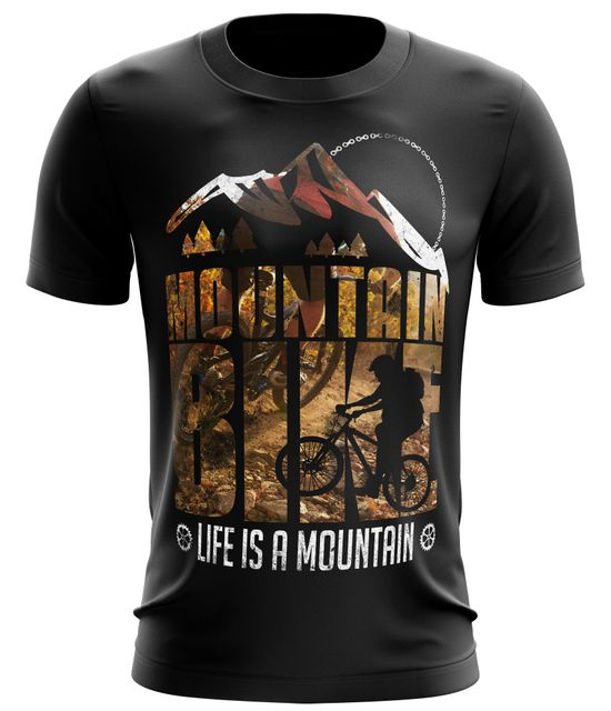 Stylotex Fitness T-Shirt Herren Sport Shirt Life is a mountain v1 Gym Tshirts für Performance beim Training | Männer kurzarm | Funktionelle Sport Bekleidung
