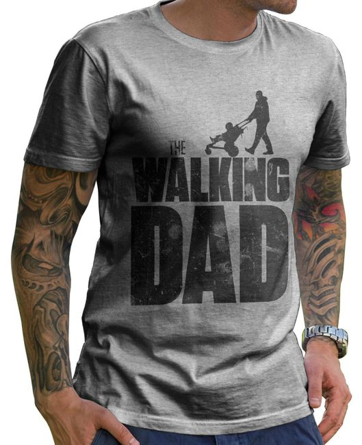 Stylotex Herren T-Shirt Basic The Walking dad