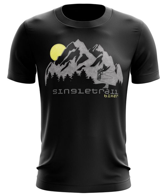 Stylotex Fitness T-Shirt Herren Sport Shirt Single Trail  Gym Tshirts für Performance beim Training | Männer kurzarm | Funktionelle Sport Bekleidung