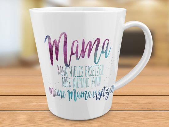 FunTasstic Tasse Mama kann vieles ersetzen, aber niemand kann meine Mama ersetzen - konische Kaffeepott 300 ml