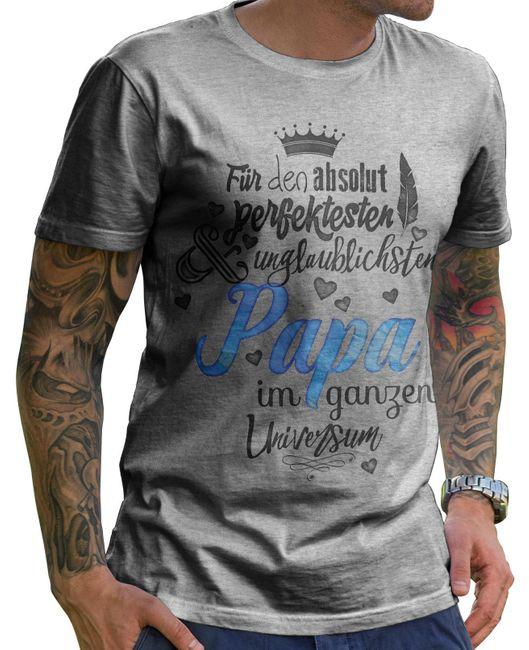 Stylotex Herren T-Shirt Basic Für den absolut perfektesten Papa
