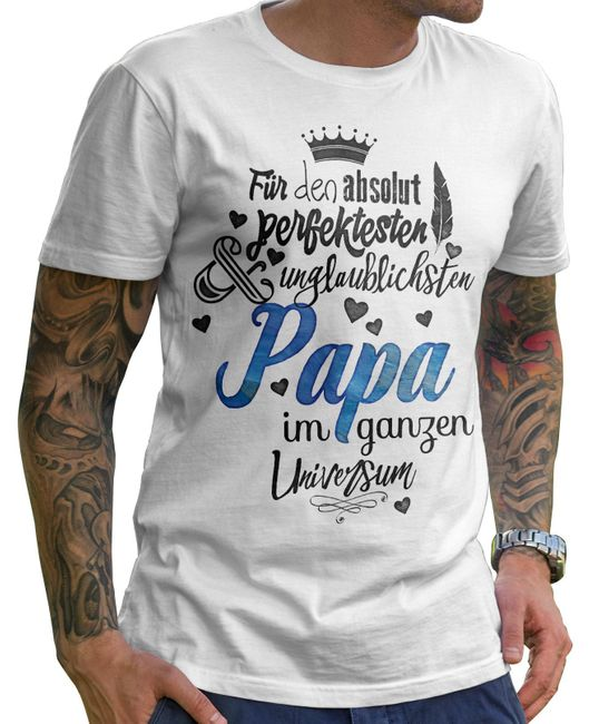 9aa4b0eb947b8 Herren T-Shirt Basic Für den absolut perfektesten Papa Men Basic T ...