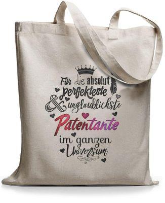 StyloBags Jutebeutel / Tasche Für die absolut perfekteste Patentante  001