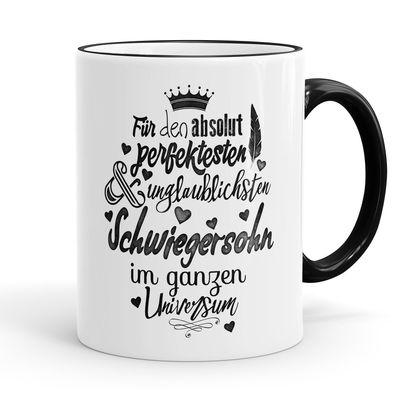 Funtasstic Tasse Für den absolut perfektesten Schwiegersohn - Kaffeepott Kaffeebecher 300 ml 001