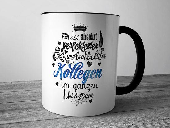 Funtasstic Tasse Für den absolut perfektesten Kollegen - Kaffeepott Kaffeebecher 300 ml