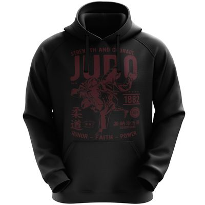 StyloTex Hoodie Strenght and Courage JUDO  001