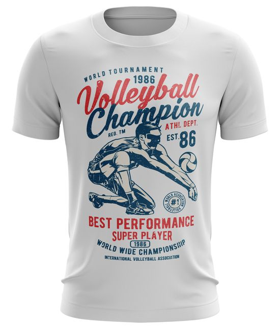 Stylotex Fitness T-Shirt Herren Sport Shirt Volleyball Champion Gym Tshirts für Performance beim Training | Männer kurzarm | Funktionelle Sport Bekleidung