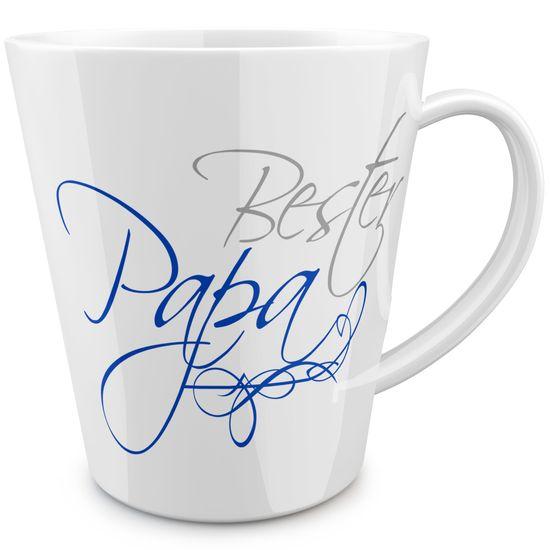 FunTasstic Tasse Bester Papa (geschwungen) konische Kaffeepott 300 ml