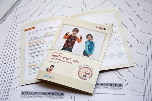 Kindershirt -Leo mit Raglanärmeln - Papier-Schnittmuster
