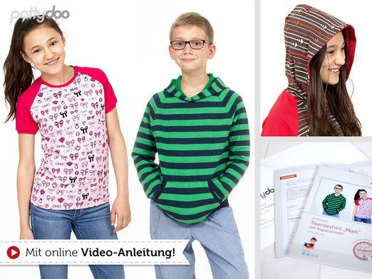 "Teenieshirt mit Raglanärmeln ""Maxi"" Papier-Schnittmuster"