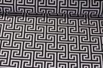 Canvas gemustert - Labyrinth Schwarz Weiß 001