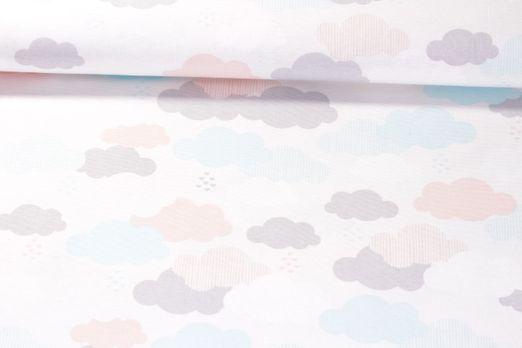 Canvas gemustert - Wölkchen Multicolor