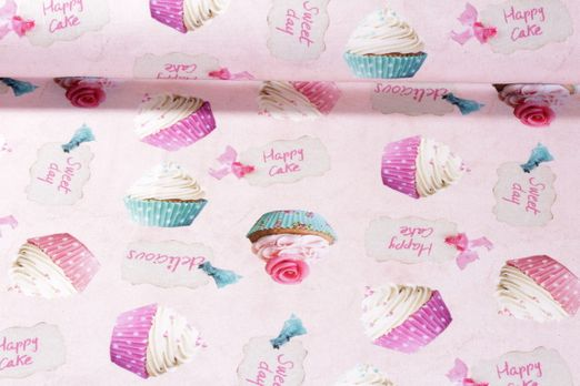 Canvas gemustert - Muffins Rosa Multicolor