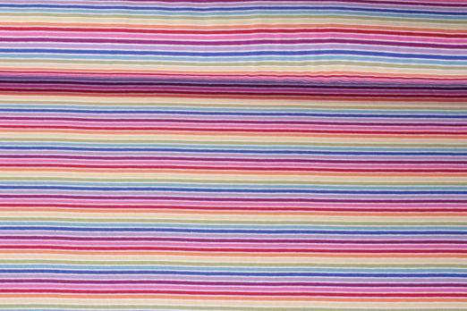 Jersey gestreift - Multicolor Weiß