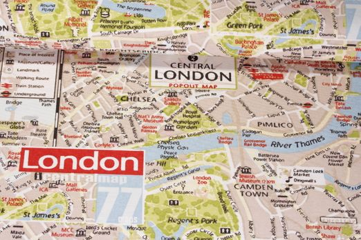 Canvas gemustert - City Map London Multicolor