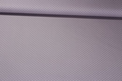 Baumwolle gemustert - Pünktchen Taupe Weiß