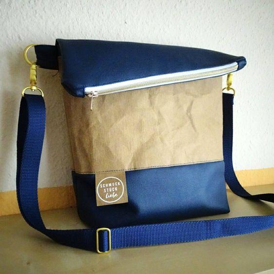 FoldOver Tasche genäht von schmuckstueckliebe | Snaply