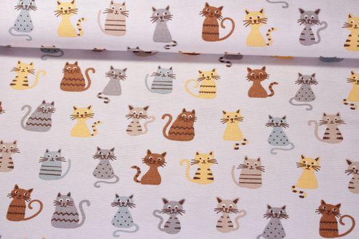 Canvas gemustert - Katzenliebe Grau Multicolor