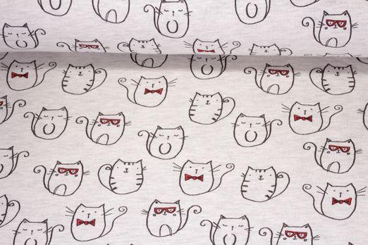 Sweat gemustert - Mr. Cat Beige
