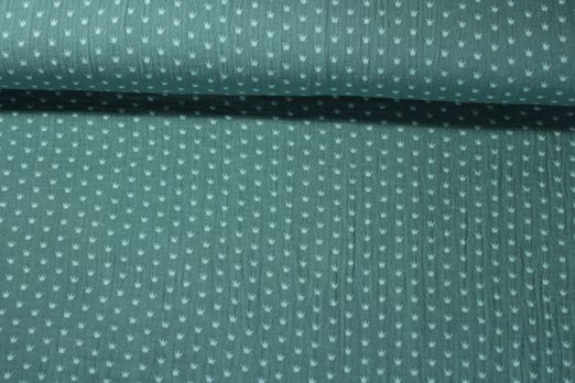 Baumwolle Musselin - Double Gauze Krone Grün