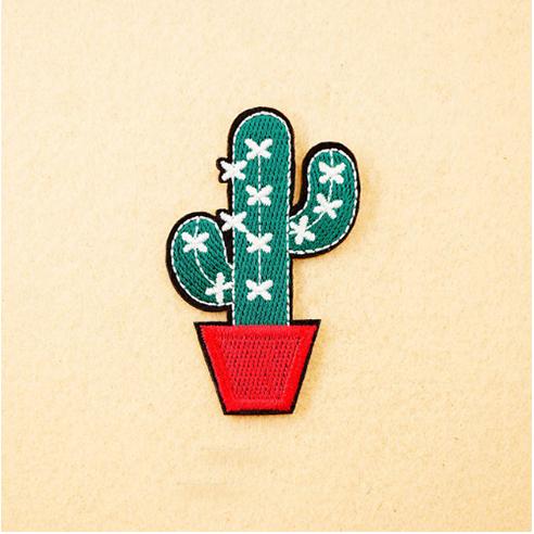 Patch Aufnäher Kaktus 6,5 x 4,0 cm