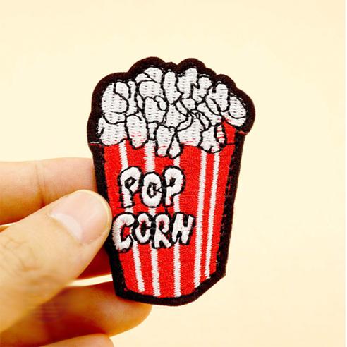 Patch Aufnäher Popcorn 4,6 x 6,2 cm