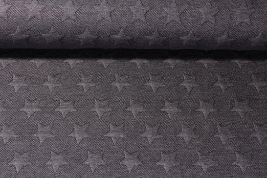 Modestoffe - Sterne Quilt Anthrazit