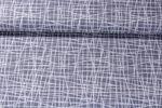Jersey gemustert - Kreuz und Quer Grau Weiss 001