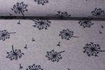 Modestoff - Jacquard Pusteblume Grau Blau 001