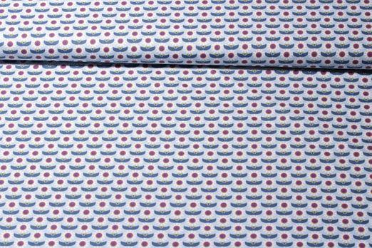 Baumwolle gemustert - Gänseblümchen Hellblau Multicolor