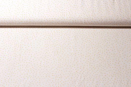 Baumwolle gemustert - Linen Dots Creme Gelb
