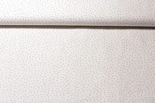 Baumwolle gemustert - Linen Dots Creme Grün