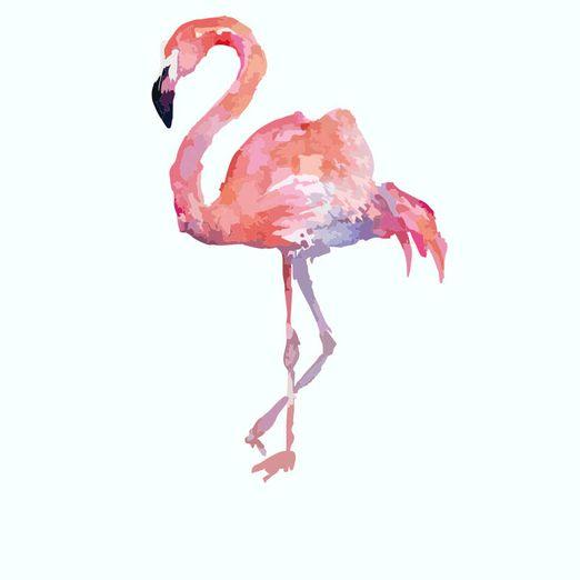 Bügelbild Flamingo