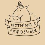 """Bügelbild Einhorn """"Nothing is impossible"""" 001"""